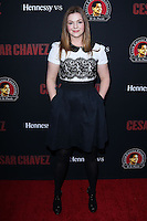 "HOLLYWOOD, LOS ANGELES, CA, USA - MARCH 20: Amber Tamblyn at the Los Angeles Premiere Of Pantelion Films And Participant Media's ""Cesar Chavez"" held at TCL Chinese Theatre on March 20, 2014 in Hollywood, Los Angeles, California, United States. (Photo by David Acosta/Celebrity Monitor)"