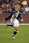 10 February 2006: The U.S.'s Taylor Twellman makes and overhead clearance. The United States Men's National Team defeated Japan 3-2 at SBC Park in San Francisco, California in an International Friendly soccer match.