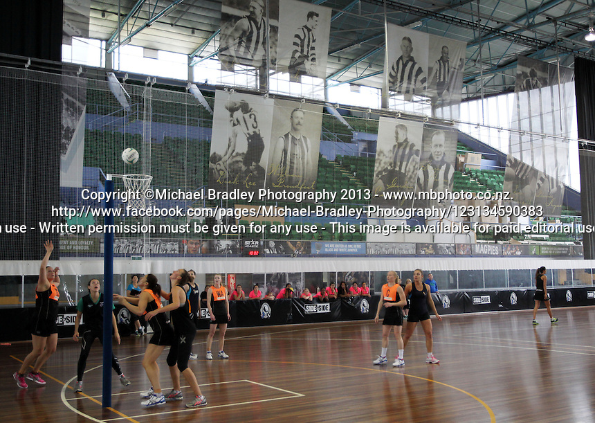 06.10.2013 Action during the Silver Ferns training in Melbourne, Australia. Mandatory Photo Credit ©Michael Bradley.