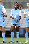 07 September 2014: North Carolina's Amber Munerlyn. The University of North Carolina Tar Heels played the University of Arkansas Razorbacks at Koskinen Stadium in Durham, North Carolina in a 2014 NCAA Division I Women's Soccer match. UNC won the game 2-1.