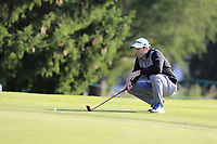 Bradley Dredge (WAL) on the 15th green during Thursday's Round 1 of the 2017 Omega European Masters held at Golf Club Crans-Sur-Sierre, Crans Montana, Switzerland. 7th September 2017.<br /> Picture: Eoin Clarke | Golffile<br /> <br /> <br /> All photos usage must carry mandatory copyright credit (&copy; Golffile | Eoin Clarke)
