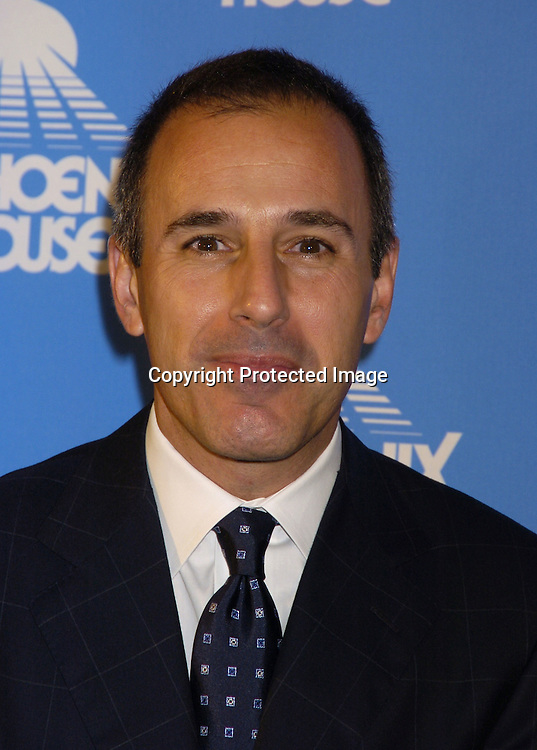 Matt Lauer ..at the Phoenix House Benefit honoring Jeff Zucker with the Phoenix Rising Award on June 8, 2005 at The Waldorf Astoria . ..Photo by Robin Platzer, Twin Images