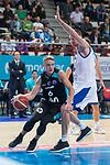 Estudiantes Ludde Hakanson and Rosa Radom Igor Zaytsev during Basketball Champions League between Estudiantes and Rosa Radom at Jorge Garbajosa Sport Center in Madrid, Spain October 18, 2017. (ALTERPHOTOS/Borja B.Hojas)