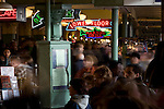 Seattle, Pike Place Farmer's Market, Historical District, Washington State, Pacific Northwest, USA, central arcade