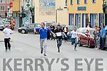 The runners who took part in the I Furlong Rock street Bar Dash on Monday, l-r:Niall Feehan (Richie's),Dominick O'Brien (Castlebar),Joe Donovan (Sub for Richie's), Kieth Daly (Linnane) and Martin Lacey (Joe's Place).