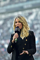 2nd February 2020; Allianz Stadium, Turin, Italy; Serie A Football, Juventus versus Fiorentina; Diletta Leotta, reporter for the pay-tv channel at the match