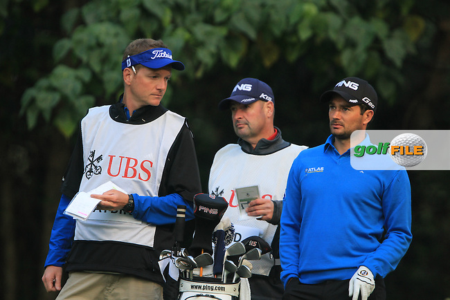 Gareth Maybin (NIR) on the 4th tee just before his Hole In One on Day 2 of the UBS Hong Kong Open 2011...Photo GOLFFILE/Jenny Matthews.(Photo credit should read Jenny Matthews/GOLFFILE)