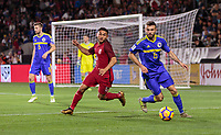 Carson, CA - Sunday January 28, 2018: Cristian Roldan, Elvis Saric during an international friendly between the men's national teams of the United States (USA) and Bosnia and Herzegovina (BIH) at the StubHub Center.