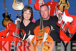 MUSIC MAKERS: Bev and Chris Birchley from Kenmare with a selection of guitars which they supply from their company, Candy Red Guitars.   Copyright Kerry's Eye 2008