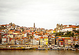 PORTUGAL, Porto, view of the city, boats and river, taken from Vila Nova de Gaia