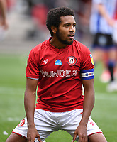 28th June 2020; Ashton Gate Stadium, Bristol, England; English Football League Championship Football, Bristol City versus Sheffield Wednesday; Korey Smith of Bristol City rues a missed chance to equalise late in the game