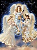 Dona Gelsinger, CHRISTMAS CHILDREN, angels, paintings, 3 angels, musicians(USGE9805,#XK#) Engel, angeles