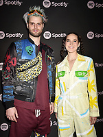 LOS ANGELES, CA - FEBRUARY 07: Tucker Halpern (L) and Sophie Hawley-Weld of Sofie Tukker attend Spotify's Best New Artist Party at the Hammer Museum on February 07, 2019 in Los Angeles, California.<br /> CAP/ROT/TM<br /> ©TM/ROT/Capital Pictures