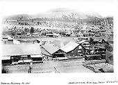 View of north Durango yard looking northwest.  &quot;From original Albumen Print, R. Grandt Coll.&quot;<br /> D&amp;RG  Durango, CO  ca 1901