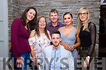 Damian Locke of Shanakill, Tralee seated front, celebrates his Big 30 with his family at The Station House in Blennerville. <br /> Back row left to right, Jasmine Griffin, Helen and Junior Locke, Heather O'Rourke and Laura Locke