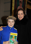 """As The World Turns' Martha Byrne comes to see Joe West, son of Maura West as he makes his Broadway Debut as """"Ralphie"""" in A Christmas Story The Musical on December 20, 2012 at the Lunt-Fontanne Theatre, New York City, New York. (Photo by Sue Coflin/Max Photos)"""
