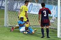 Victor Osimhen of SSC Napoli during the friendly football match between SSC Napoli and L Aquila 1927 at stadio Patini in Castel di Sangro, Italy, August 28, 2020. <br /> Photo Cesare Purini / Insidefoto
