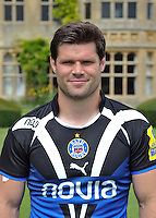 Dan Hipkiss poses for a portrait at the squad Photocall. Bath Rugby Media Day on August 21, 2012 at Farleigh House in Bath, England. Photo by: Patrick Khachfe/Onside Images