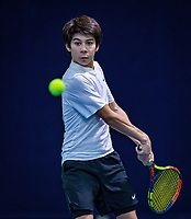 Hilversum, Netherlands, December 2, 2018, Winter Youth Circuit Masters, Alfredo Vogelaar (NED)<br /> Photo: Tennisimages/Henk Koster