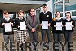 Students from North Kerry College, Listowel who received their Junior Cert results on Wednesday morning last pictured with Principal Stephen Goulding. L-R: Killian Fealey, Diane Moloney, Diarmuid McDonnell, Amelia Girasole & Edel Mulvihill.