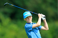Owen Kelly (Ballina) on the 1st tee during the Connacht U12, U14, U16, U18 Close Finals 2019 in Mountbellew Golf Club, Mountbellew, Co. Galway on Monday 12th August 2019.<br /> <br /> Picture:  Thos Caffrey / www.golffile.ie<br /> <br /> All photos usage must carry mandatory copyright credit (© Golffile | Thos Caffrey)