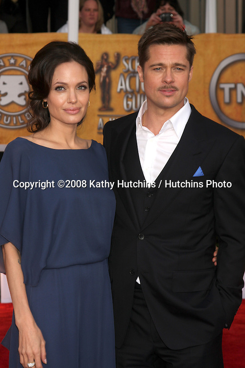 Brad Pitt & Angelina Jolie . arriving at the Screen Actors Guild Awards, at the Shrine Auditorium in Los Angeles, CA on .January 25, 2009.©2008 Kathy Hutchins / Hutchins Photo..