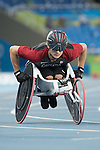 RIO DE JANEIRO - 14/9/2016:  Austin Smeenk competes in the Men's 800m - T34 Final at the Olympic Stadium during the Rio 2016 Paralympic Games in Rio de Janeiro, Brazil. (Photo by Matthew Murnaghan/Canadian Paralympic Committee