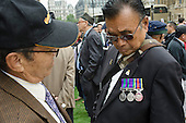 Gurkhas rally outside Parliament before a debate in the House of Commons Chamber on Gurkha pensions and terms of employment.