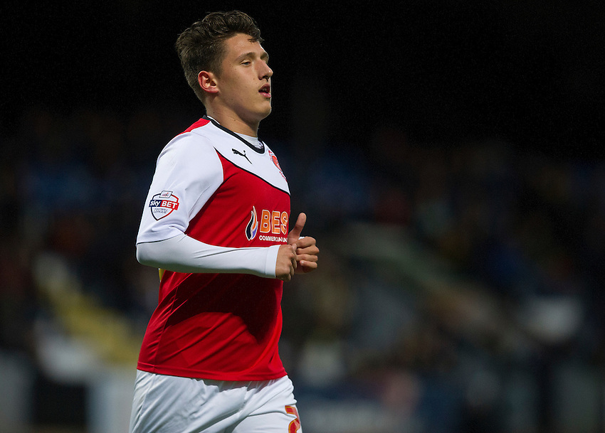 Fleetwood Town's Tom Hitchcock<br /> <br /> Photographer Stephen White/CameraSport<br /> <br /> Football - FA Challenge Cup First Round - Cambridge United v Fleetwood Town - Saturday 8th November 2014 - R Costings Abbey Stadium - Cambridge<br /> <br />  &copy; CameraSport - 43 Linden Ave. Countesthorpe. Leicester. England. LE8 5PG - Tel: +44 (0) 116 277 4147 - admin@camerasport.com - www.camerasport.com