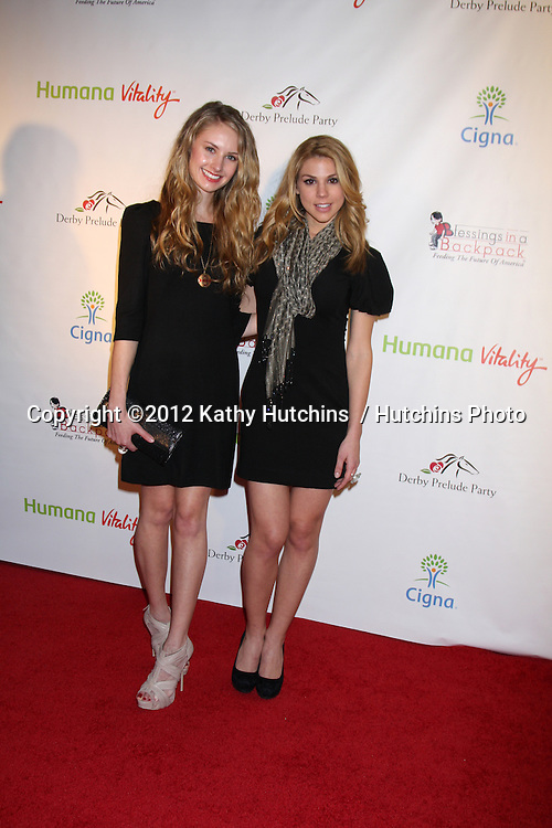 LOS ANGELES - JAN 12:  Caitlin Thompson, Kate Mansi. arrives at  the Los Angeles Derby Prelude Party at The London Hollywood Hotel on January 12, 2012 in West Hollywood, CA
