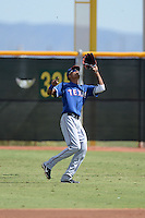 Texas Rangers outfielder Jairo Beras (32) during an Instructional League game against the Cincinnati Reds on October 7, 2013 at Goodyear Training Complex in Goodyear, Arizona.  (Mike Janes/Four Seam Images)