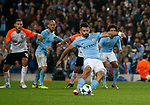 Sergio Aguero of Manchester City takes a penalty kick that is saved during the Champions League Group F match at the Emirates Stadium, Manchester. Picture date: September 26th 2017. Picture credit should read: Andrew Yates/Sportimage