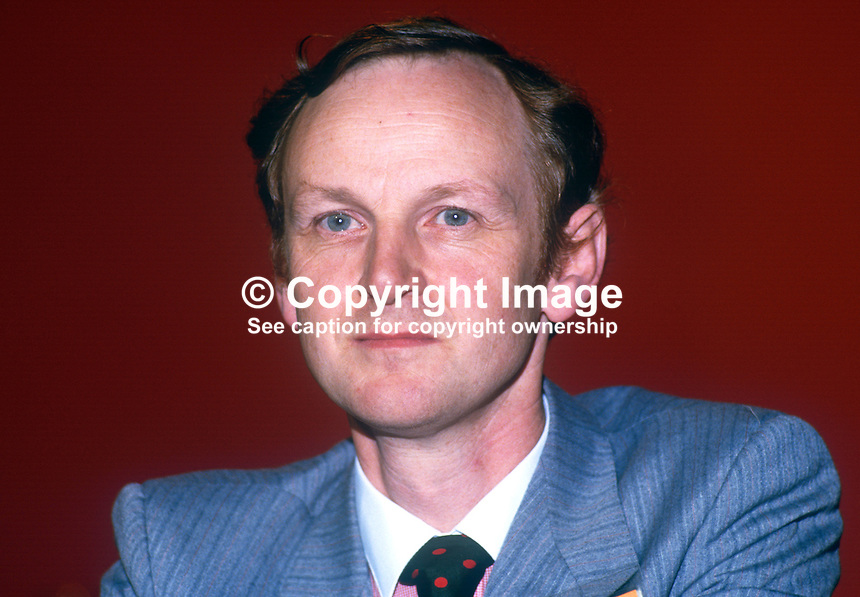 Paul Tyler PPC, prominent member, Liberal Party, UK, annual conference, September 1986. 19860920PT1<br /> <br /> Copyright Image from Victor Patterson, 54 Dorchester Park, Belfast, UK, BT9 6RJ<br /> <br /> t1: +44 28 9066 1296 (from Rep of Ireland 048 9066 1296)<br /> t2: +44 28 9002 2446 (from Rep of Ireland 048 9002 2446)<br /> m: +44 7802 353836<br /> <br /> e1: victorpatterson@me.com<br /> e2: victorpatterson@gmail.com<br /> <br /> The use of any of my copyright images is subject to my Terms &amp; Conditions.<br /> <br /> It is IMPORTANT that you familiarise yourself with them. They are available on my website, victorpatterson.com.<br /> <br /> None of my copyright images may be used on the Internet unless they are visibly watermarked, i.e. &copy; Victor Patterson within the body of the image. Additionally metadata denoting my copyright must NOT be deleted. <br /> <br /> Web use is extra at the then currently recommended NUJ rates.