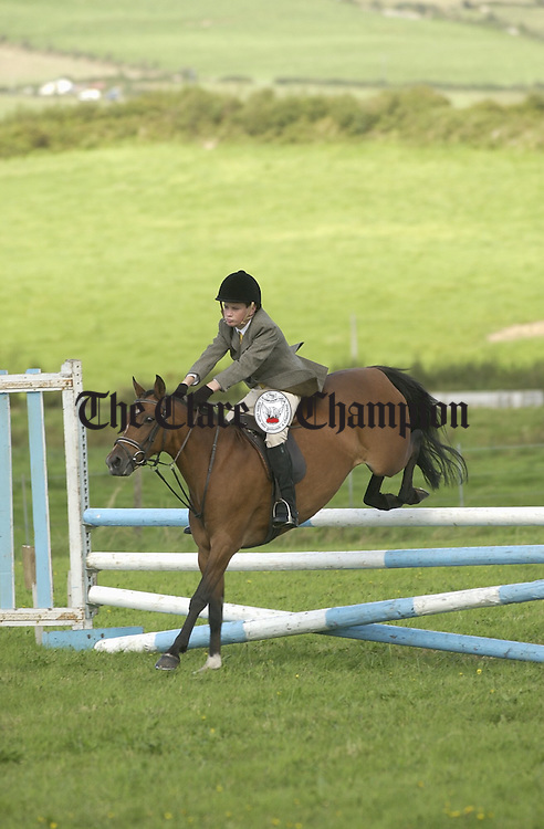 Johnathan Casey competing in the jumping at Scariff Show. Photograph by John Kelly.