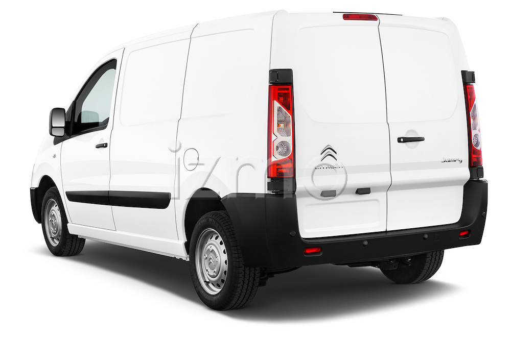 Car pictures of rear three quarter view of a 2015 Citroen Jumpy L1H1 Ft10 4 Door Cargo Van angular rear