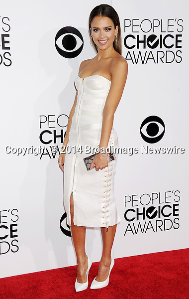 Pictured: Jessica Alba<br /> Mandatory Credit &copy; Gilbert Flores /Broadimage<br /> 2014 People's Choice Awards <br /> <br /> 1/8/14, Los Angeles, California, United States of America<br /> Reference: 010814_GFLA_BDG_138<br /> <br /> Broadimage Newswire<br /> Los Angeles 1+  (310) 301-1027<br /> New York      1+  (646) 827-9134<br /> sales@broadimage.com<br /> http://www.broadimage.com