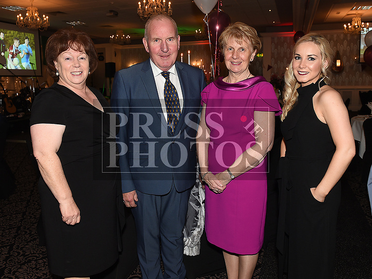 Aine and Blaithín O'hEochaidh and Michael and Mary McKeown at the Oliver Plunketts 75th anniversary dinner in the Westcourt hotel. Photo:Colin Bell/pressphotos.ie