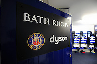 A general view of the entrance to the Bath Rugby changing rooms. Aviva Premiership match, between Bath Rugby and Newcastle Falcons on September 10, 2016 at the Recreation Ground in Bath, England. Photo by: Patrick Khachfe / Onside Images