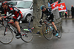 Chris Froome (GBR) Team Sky climbing during Stage 4 of the 2016 Tour de Romandie, running 173.2km from Conthey to Villars, Switzerland. 30th April 2016.<br /> Picture: Heinz Zwicky | Newsfile<br /> <br /> <br /> All photos usage must carry mandatory copyright credit (© Newsfile | Heinz Zwicky)
