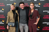 "Miriam Giovanelli, Diego Martin and Amaia Salamanca attend the Premiere of the movie ""El club de los incomprendidos"" at callao Cinema in Madrid, Spain. December 1, 2014. (ALTERPHOTOS/Carlos Dafonte) /NortePhoto<br />