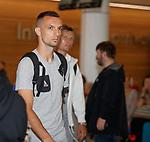 08.08.18 FK Maribor arrive at Glasgow airport: Jasmin Mešanović
