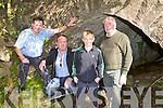 DAN HANAFIN BRIDGE: Denis, Teddy, Jordan and Jimmy Foley under the Dan Hanafin bridge at Clahane on Saturday.