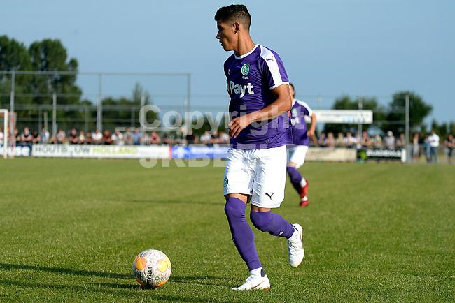 NIEUW BUINEN - Voetbal , Nieuw Buinen - FC Groningen, voorbereiding seizoen 2018-2019, 04-07-2018,  FC Groningen speler Uriel Antuna
