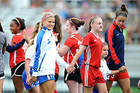Boyds, MD - Saturday August 12, 2017: Rosie White, Natasha Dowie during a regular season National Women's Soccer League (NWSL) match between the Washington Spirit and The Boston Breakers at Maureen Hendricks Field, Maryland SoccerPlex.