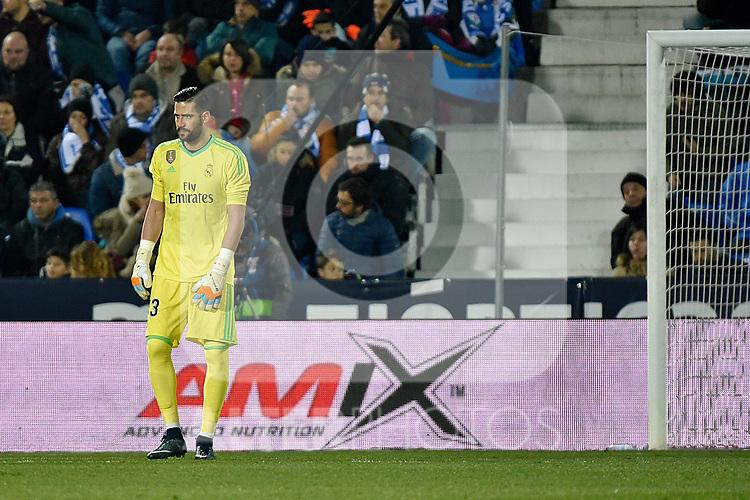 Leganes vs Real Madrid Kiko Casilla during Copa del Rey  match. A quarter of final go. 20180118.