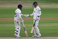 Ravi Bopara and Daniel Lawrence of Essex during Yorkshire CCC vs Essex CCC, Specsavers County Championship Division 1 Cricket at Emerald Headingley Cricket Ground on 5th June 2019