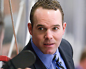 Patrick Foley (Harvard - Assistant Coach) - The Harvard University Crimson defeated the visiting Colgate University Raiders 6-2 (2 EN) on Friday, January 28, 2011, at Bright Hockey Center in Cambridge, Massachusetts.