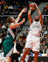 21/02/2014<br /> EUROLEAGUE BASKETBALL<br /> REAL MADRID - ZALGIRIS<br /> 30 IOANNIS BOUROUSIS Center (REAL MADRID)<br /> 15 JAVTOKAS Center (ZALGIRIS)