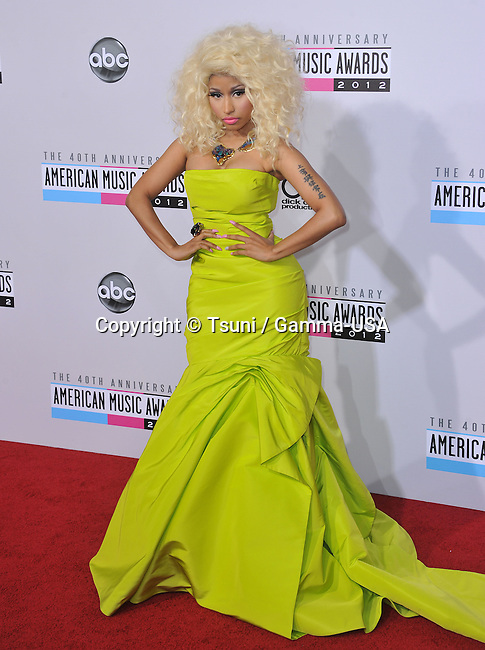 Nicki Minaj  at 40th American Music Awards 2012 at the Nokia Theatre In Los Angeles.