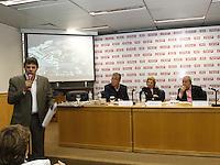 SAO PAULO,  26 DE JUNHO DE 2012. LULA NA FIESP. O ex presidente Luis Inacio Lula Da Silva e o candidato à prefeitura, Fernando Haddad, durante reunião de apresentação do Memorial  da democracia na Fiesp. FOTO: ADRIANA SPACA - BRAZIL PHOTO PRESS